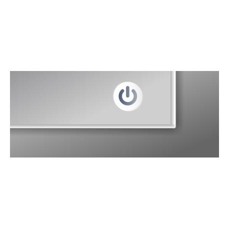 Włącznik dotykowy białe podświetlanie